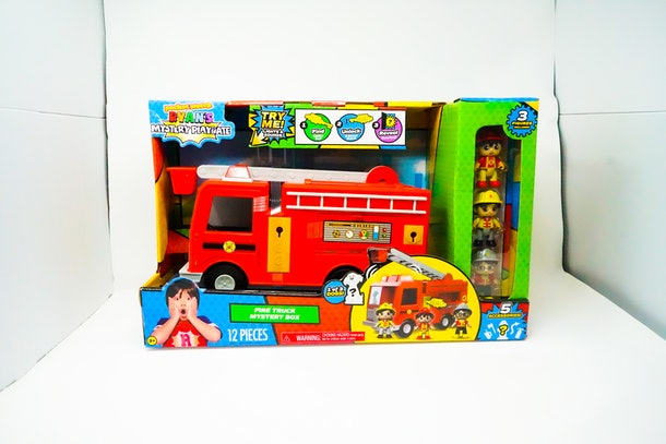 Ryan's World Mystery Fire Truck In Box