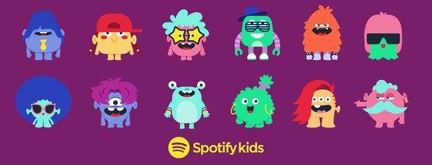 Spotify Kids offers 12 different monster avatars to choose from.