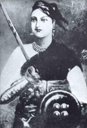Princesses who are badasses sometimes carry their kids into battle like princess Rani Lakshmi Bai