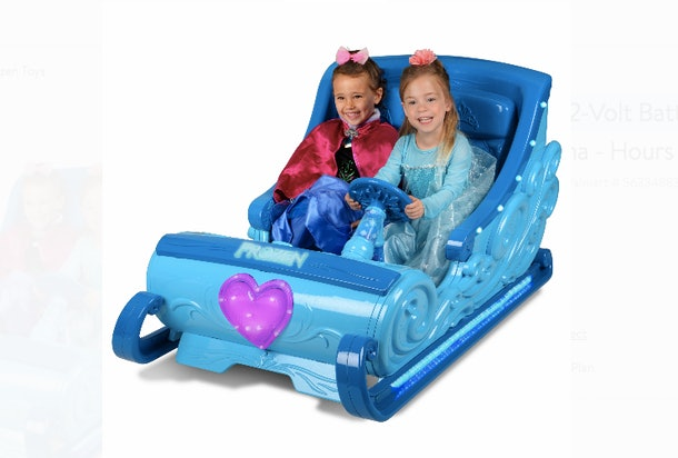 Walmart has a Frozen Ride-On Sleigh.