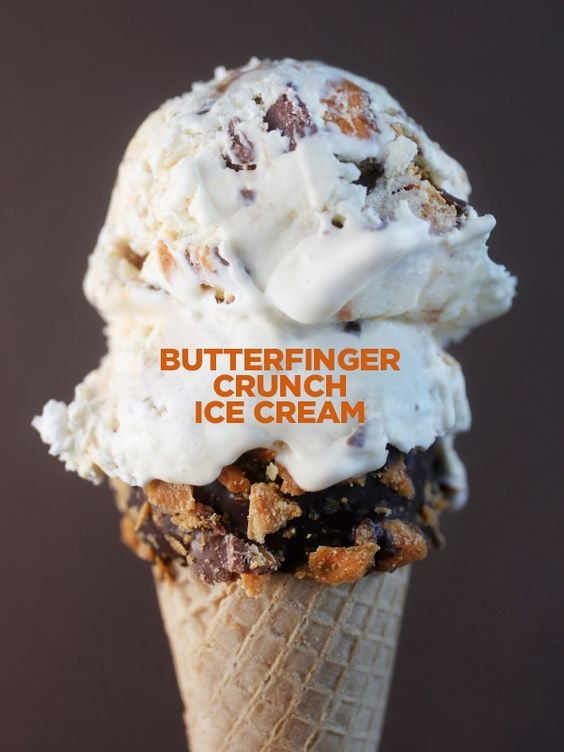 Things To Make With Leftover Halloween Candy, Butterfinger Crunch Ice Cream