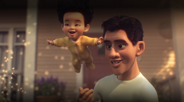 """Pixar's short film """"Float"""" on Disney+ will leave parents thinking about their impact on their children."""