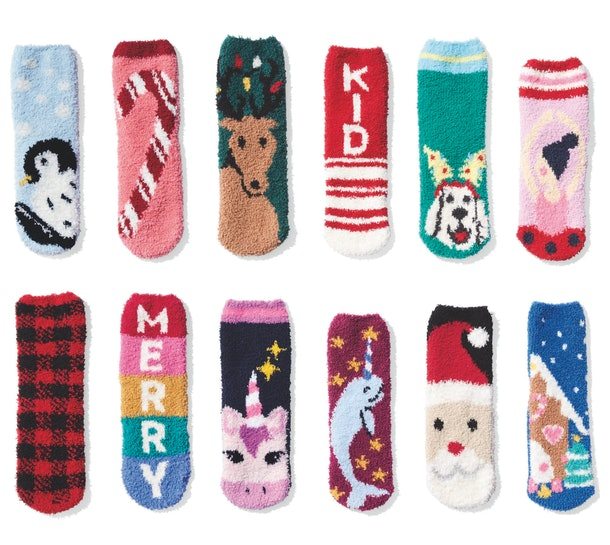 Shop the Old Navy Cozy Sock sale to find festive holiday socks for the whole family.