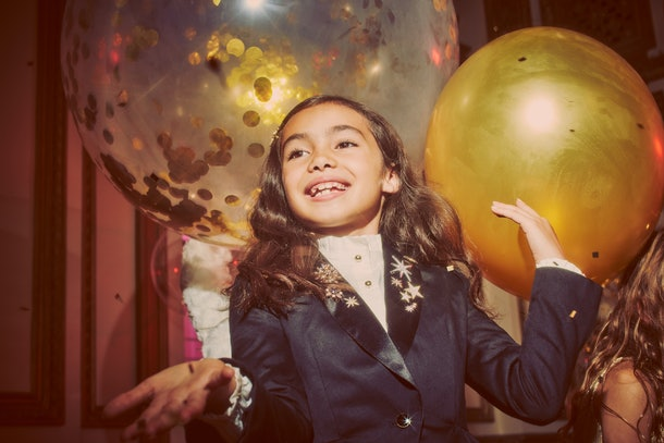 Child in black blazer from Rachel zoe x janie and jack party collaboration