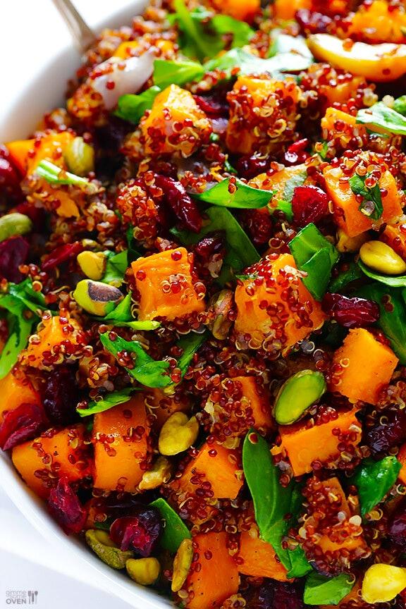 Vegetarian Thanksgiving quinoa stuffing