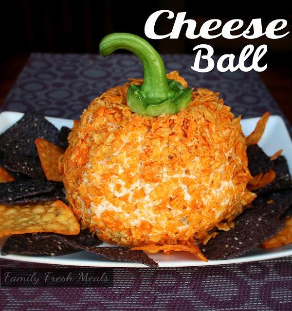 Vegetarian Thanksgiving cheese ball