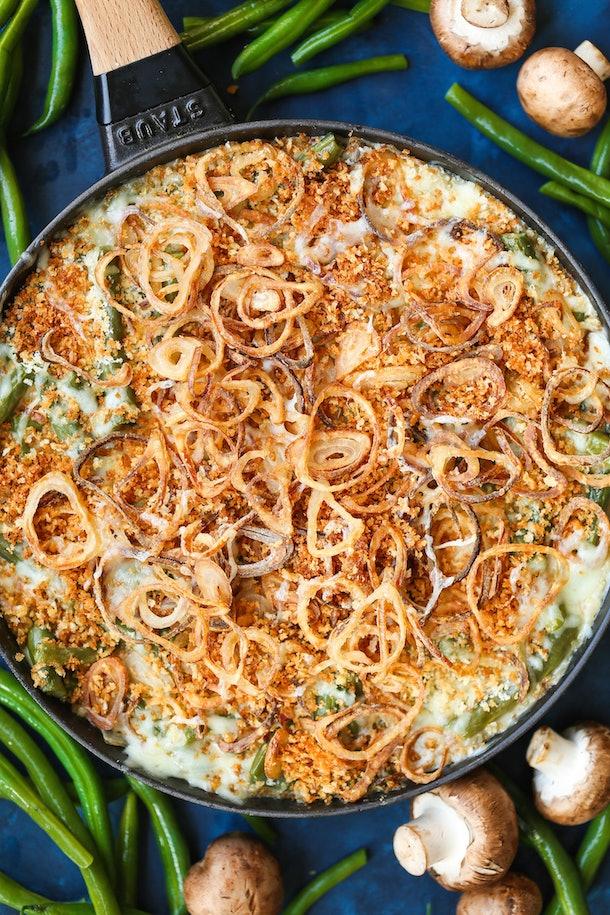 Vegetarian Thanksgiving green bean casserole
