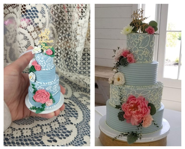 Etsy seller Forever Figurines also creates replicas of wedding cakes for customers