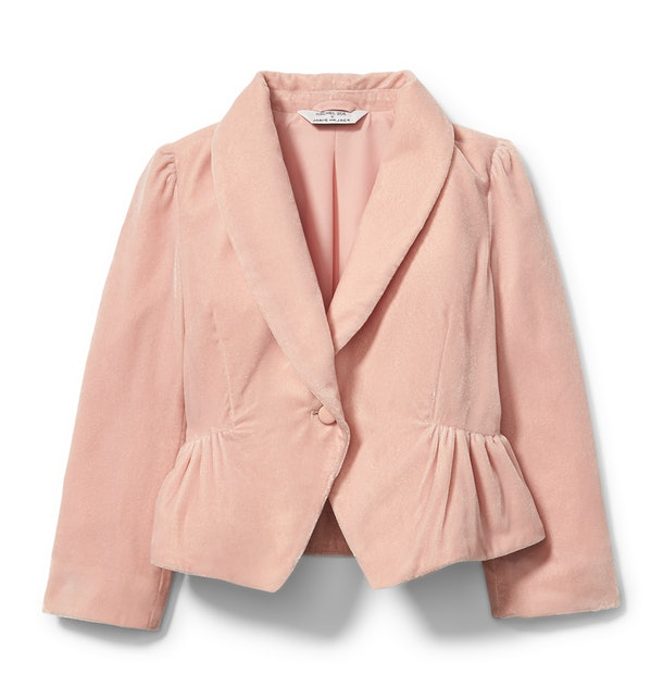 Pink velvet blazer from  Rachel zoe x janie and jack party collaboration