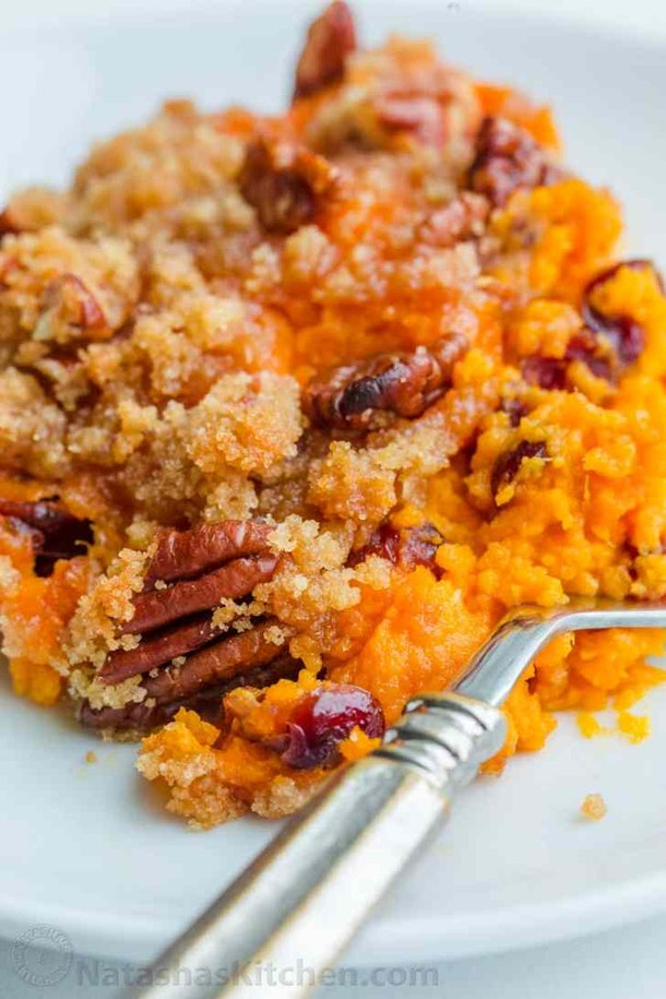 Vegetarian Thanksgiving sweet potato casserole
