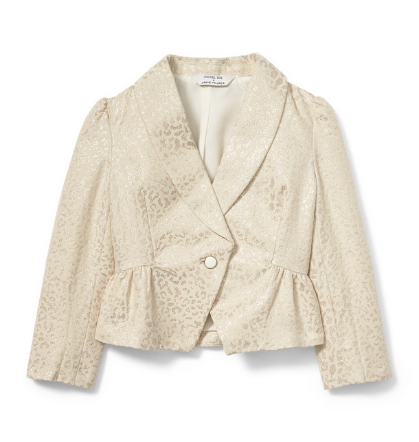 metallic Cheetah jacquard blazer from Rachel zoe x janie and jack party collaboration