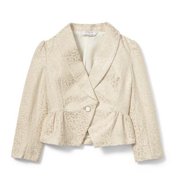 metallic Cheetah jacquard blazer from Rachel zoe x janie and jack party collaboration