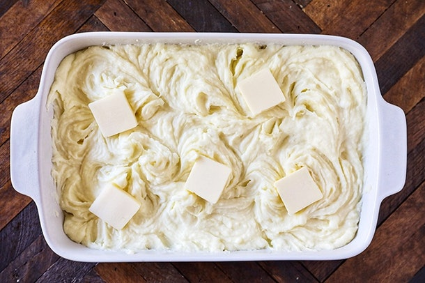 Vegetarian Thanksgiving mashed potatoes