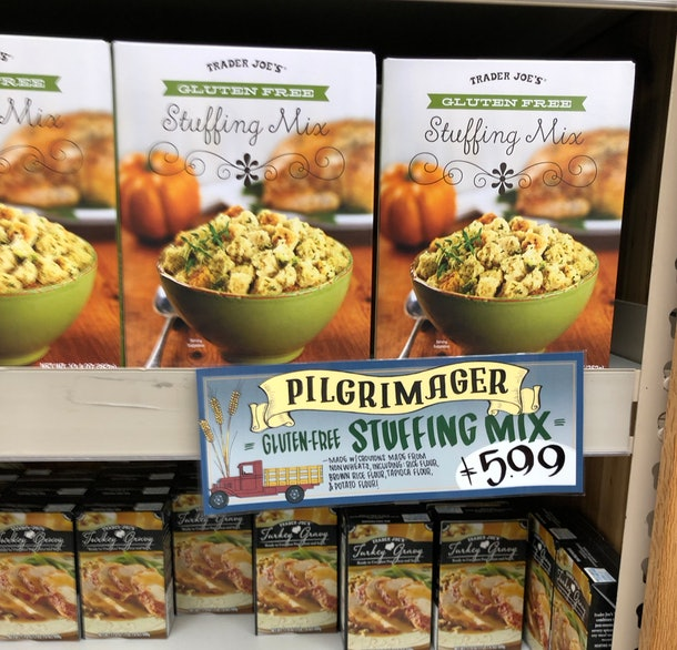 Boxes of gluten free stuffing.