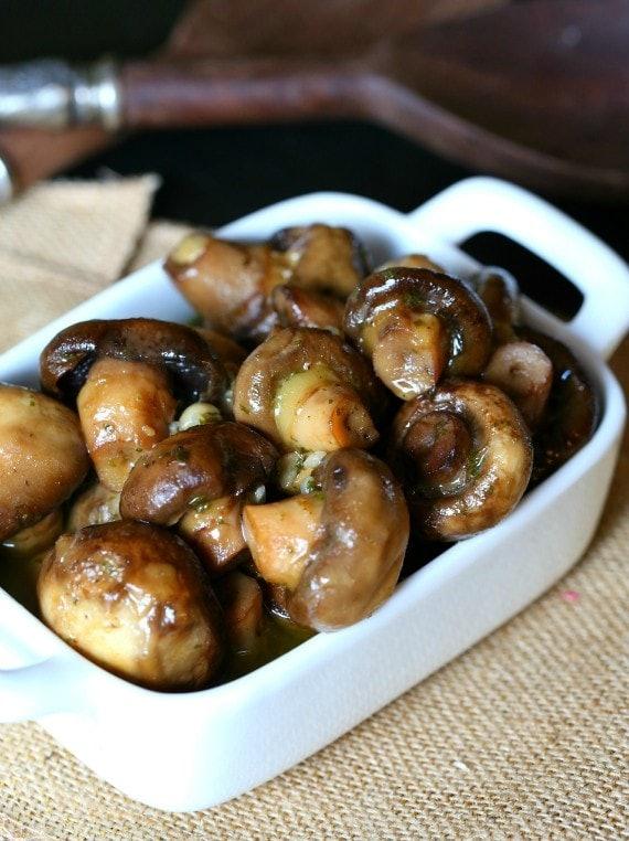 plate of tender mushrooms