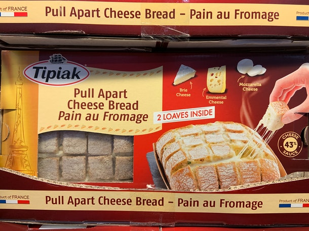 Tipiak Pull Apart Cheese Bread from costco