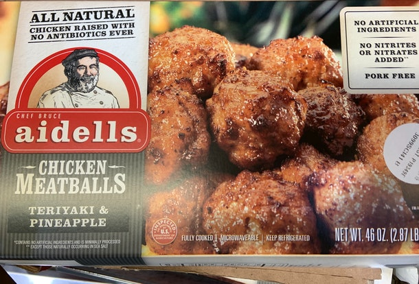 Aidells Chicken Meatballs from costco