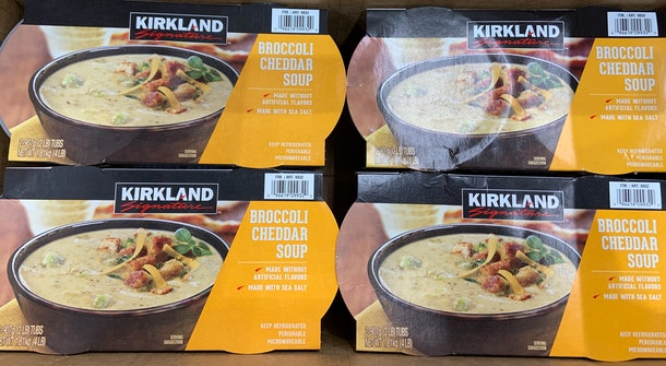 Kirkland Broccoli Cheddar Soup from costco