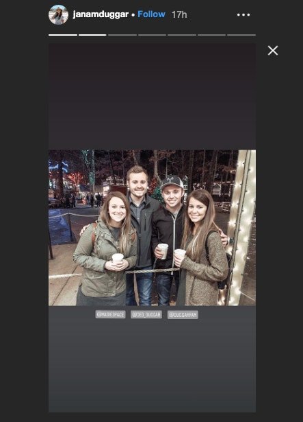 Jed Duggar poses with his arm around Laura DeMasie.