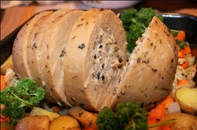 Basic tofurky recipe from What's Cooking America makes this meat replacement entree easy to cook
