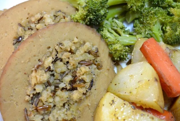 Better baste for tofurky recipe from Fool A Carnivore dresses up your store-bought tofurky nicely