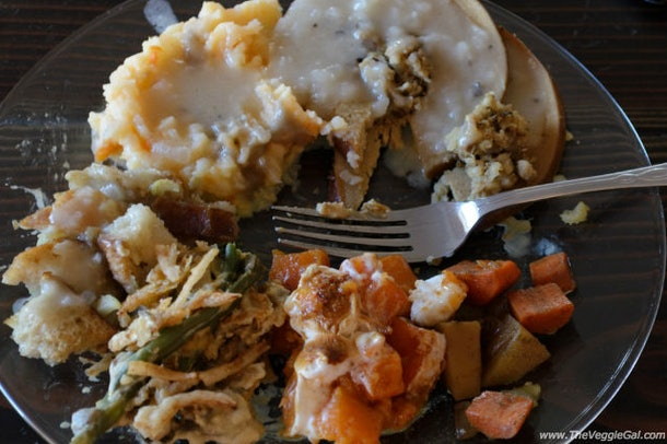 Roasted tofurky recipe from The Veggie Gal is a plant-based holiday feast