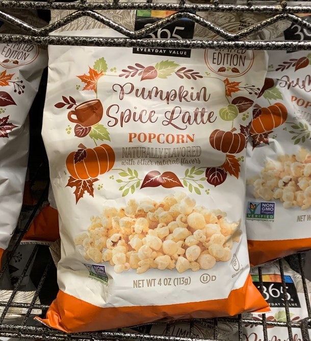 365 Pumpkin Spice Latte Popcorn from Whole Foods