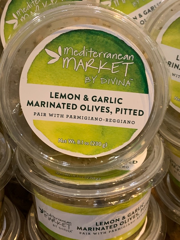 Mediterranean Market Lemon & Garlic Marinated Olives from Whole Foods