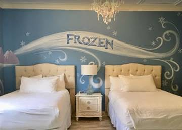 Sleep cool and comfortable in these 'Frozen' bedrooms