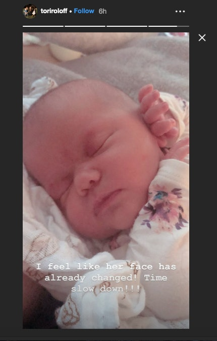 Tori Roloff shared a picture of her newborn daughter, Lilah.