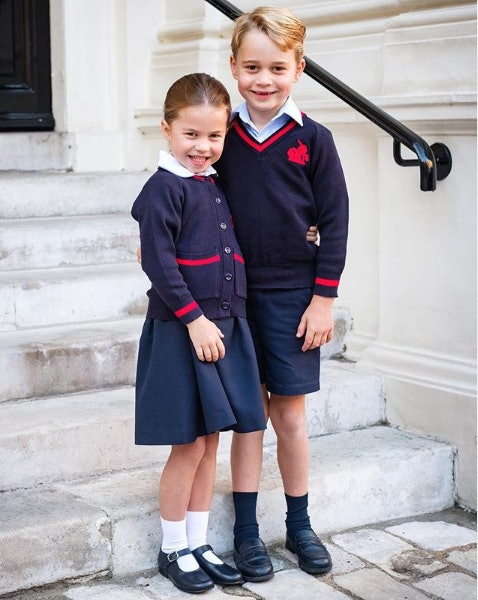 Prince George and Princess Charlotte went off to school together for the first time in September 2019.
