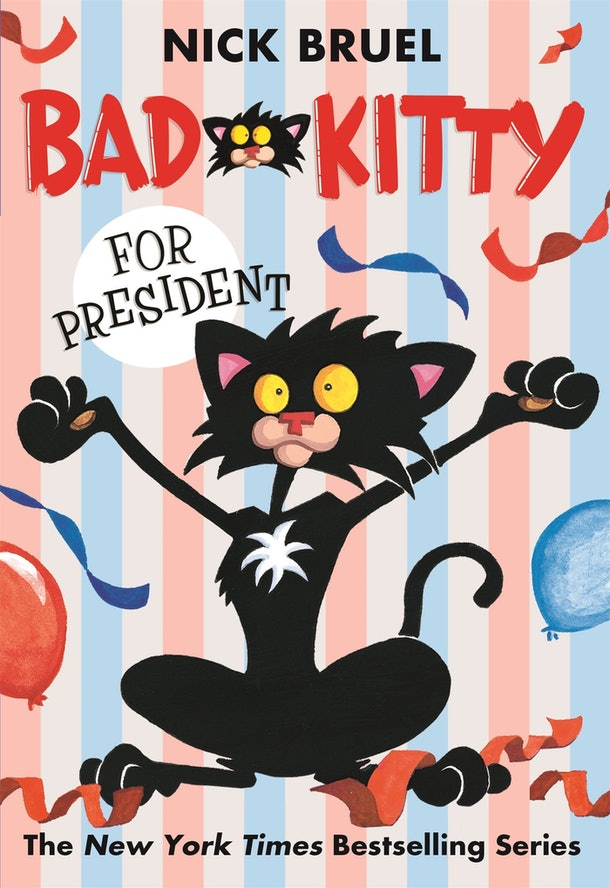 The children's book 'Bad Kitty For President' contains several grawlixes that some readers have expressed concern over