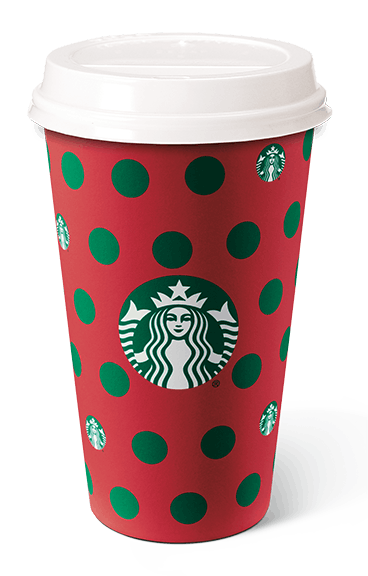 The Polka Dots Starbucks holiday cup is available in stores starting Nov. 7.