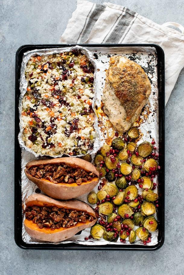 sheet pan paleo thanksgiving dinner