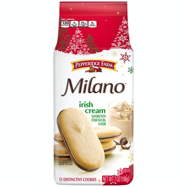 Irish Cream is one of the new flavors of Milano cookies out for the holiday season.