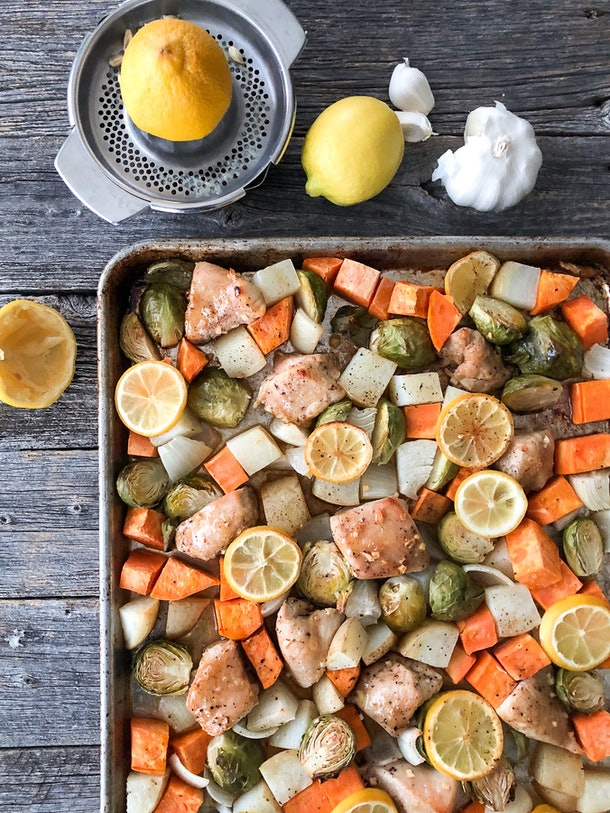 sheet pan turkey with vegetables