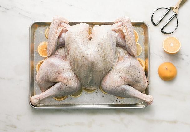 full turkey on sheet pan