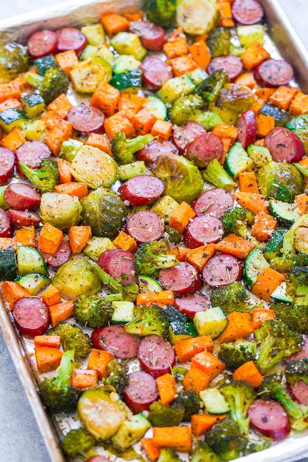 sheet pan turkey sausage with vegetables