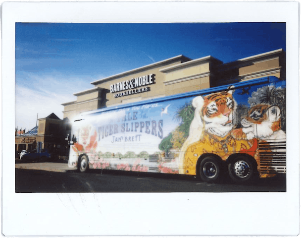 The Tale of the Tiger Slippers tour bus