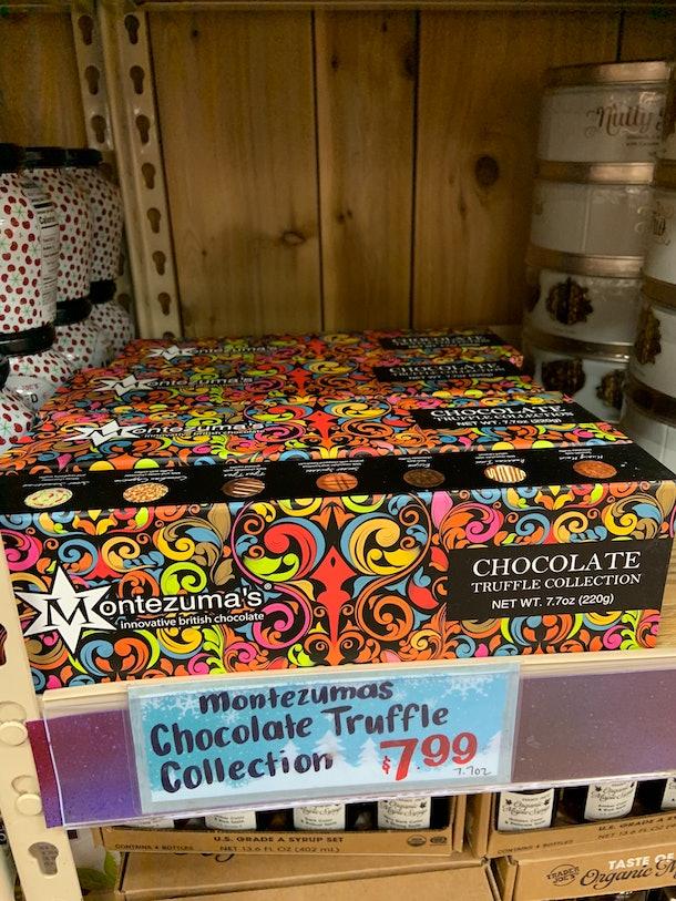 best trader joe's holiday desserts: montezuma's chocolate truffle collection
