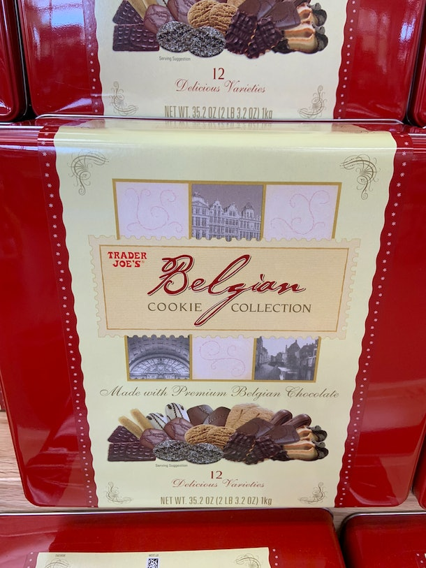 best trader joe's holiday desserts: belgian cookie collection