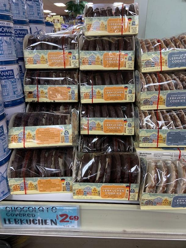 best trader joe's holiday desserts: lebkuchen cookies