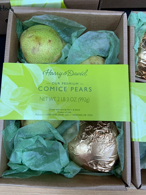 best trader joe's holiday desserts: comice pears