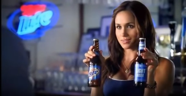 Meghan Markle was in a beer commercial in 2010