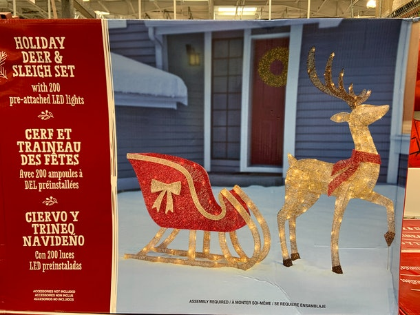 Holiday Deer & Sleigh Set