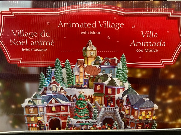 Christmas Village With Lights and Music