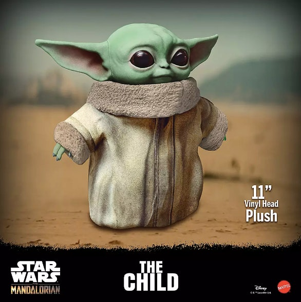 Mattel's Baby Yoda plushie is available for pre-order on Disney's website.