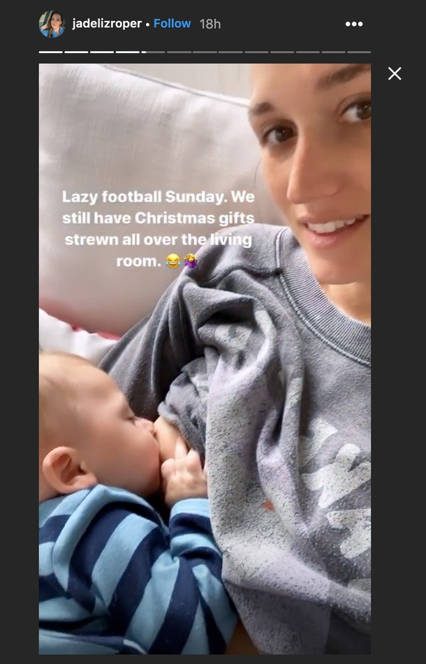 jade roper was mom-shamed for sharing a video of her breastfeeding her baby, so she responded with the perfect clapback