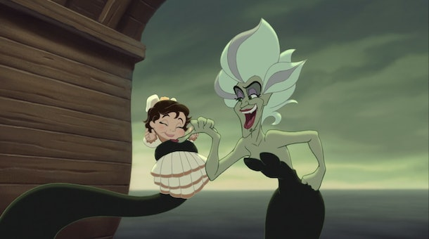Ariel's baby is stolen by Ursula's sister.