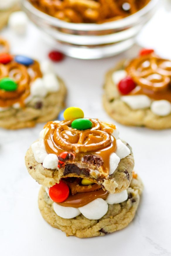 These unique cookies are loaded with treats, from pretzels to marshmallows.